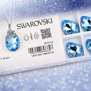 light blue swarovski necklace