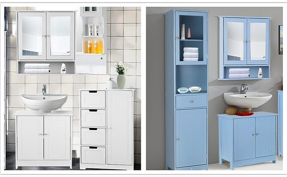Marvelous Ikayaa Under Sink Bathroom Cabinet Storage Sink Basin Storage With 2 Doors Storage Cupboard Unit White Download Free Architecture Designs Sospemadebymaigaardcom