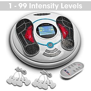 foot massager intensity levels