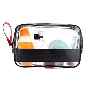 e9ad423f7b0f Thanks to the design and high quality material used, the transparent travel toiletry  bag is a chic alternative to a zipper or plastic bag.