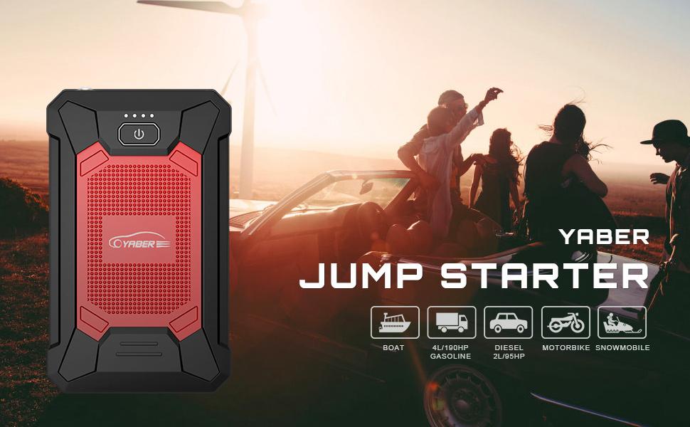 car battery booster jump starter