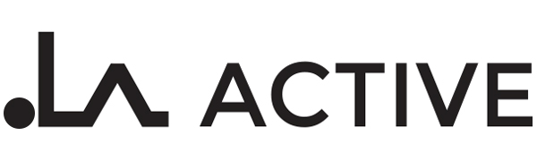 Logo for brand LA Active, an American company specializing in grip socks