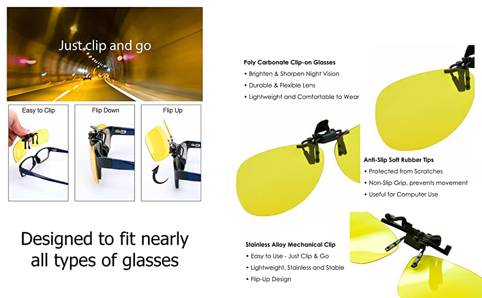 786a59d2c5ba night driving glasses vision clearview clear view clip on existing lenses