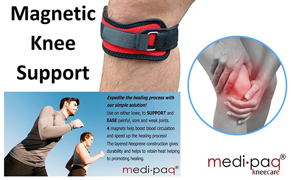 b27a63dc1c Medipaq MAGNETIC Knee Patella Support Strap brace compression tendon
