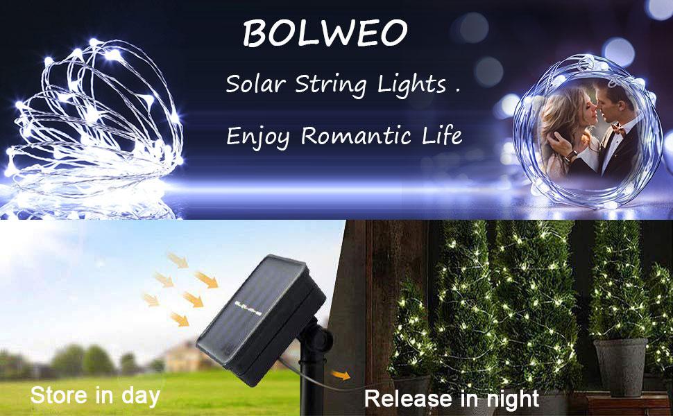 solar powered string lights