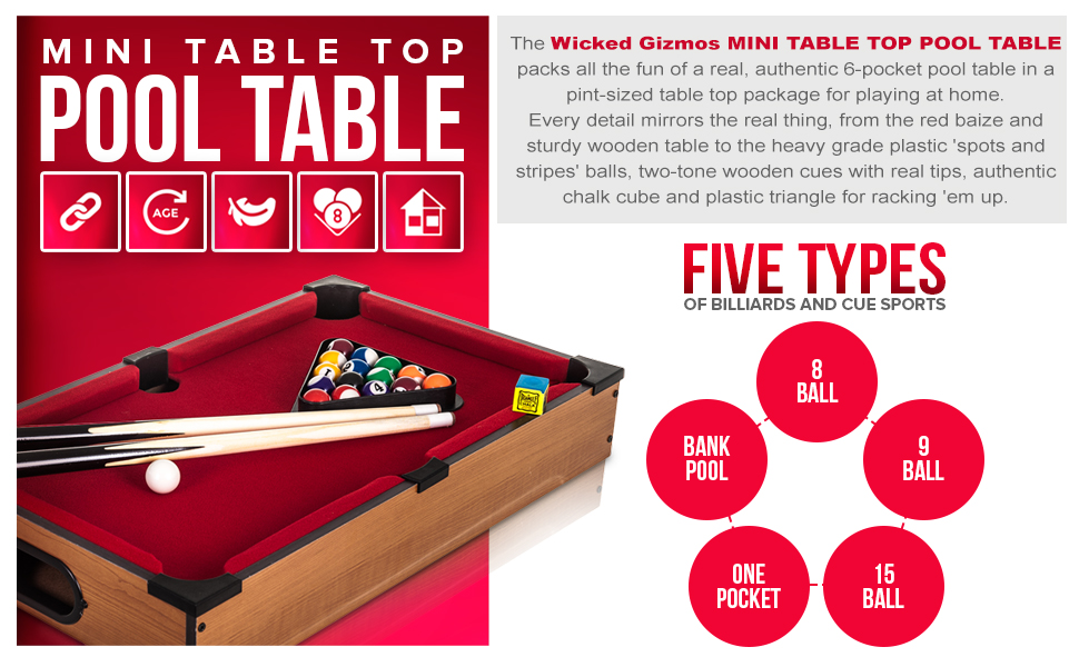 Wondrous Wg Table Top Pool Game Large Desktop Wooden Board Includes Balls 2 Cues Triangle Chalk Classic Novelty Retro Fun Toy Gadget Gift Download Free Architecture Designs Ferenbritishbridgeorg