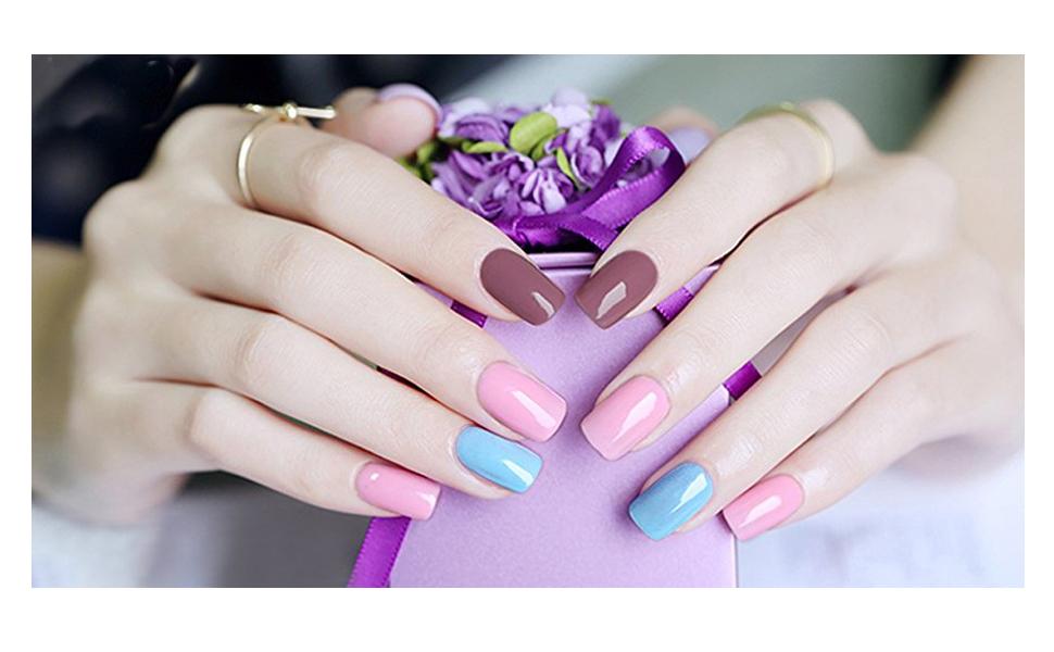 Elite99 Gel Nail Polish Set Soak Off UV LED Varnish Manicure 6 ...