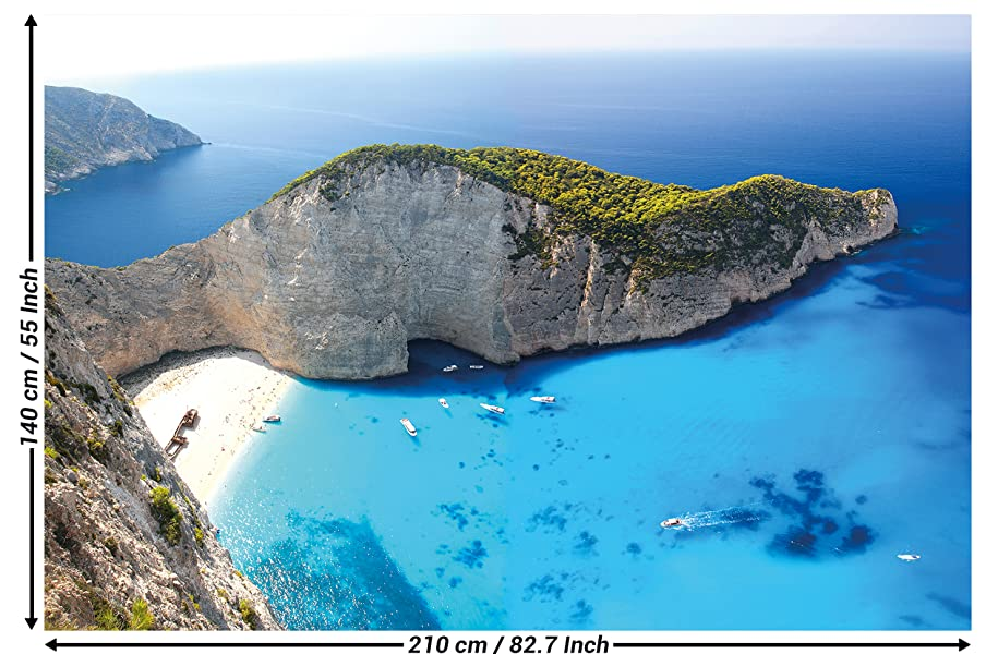 Photographic Wallpaper Zakynthos Beach Wall Picture Decoration Greece Shipwreck Navagio Island Ocean Zante Smugglers Cove I Paperhanging Poster