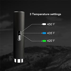 3 temperature settings