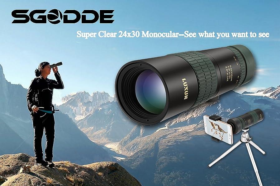 Sgodde super clear monocular telescope dual focus
