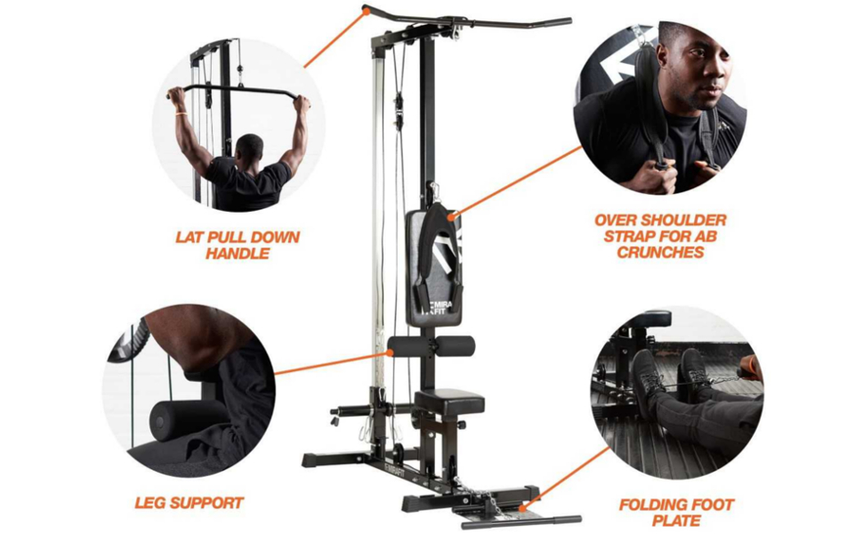 Mirafit M1 Multi Gym Lat Pull Down Machine Technical Information
