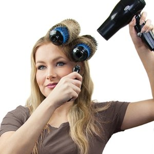 curls salon brush hair curly