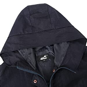 c41ede9944c 4How Women Hooded Raincoat with Drawstring Waterproof Jacket. Read more.  4How