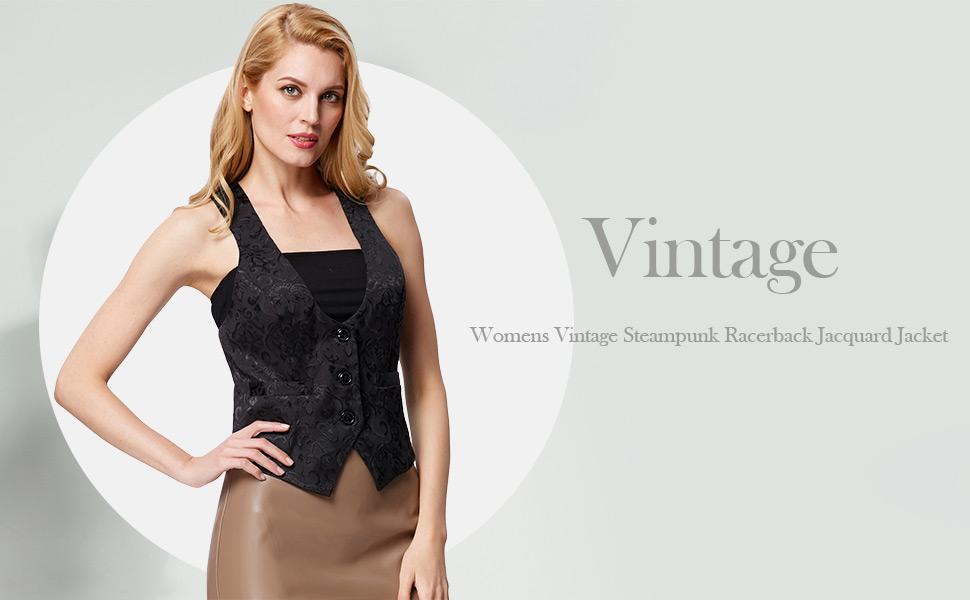 women vintage cosplay party waistcoat