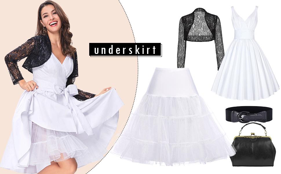 vintage petticoat 50s underskirt half slips