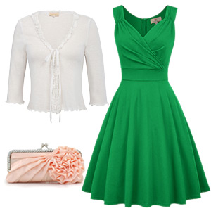 patrick's day dress 1950s retro party dress women hithtea cocktail a-line prom evening dress
