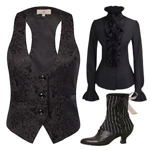 fancy party cosplay costume vintage jacquard vest jacket waistcoat