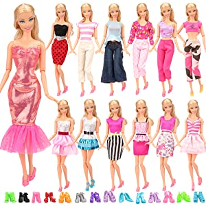 """Multi-style Fashion Doll Dress For 11.5/"""" Doll Clothes Outfits Gown Pants 1//6 Toy"""