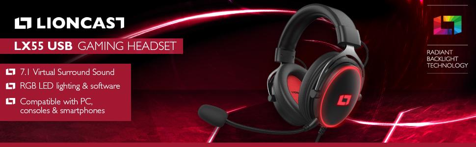 lx55 usb gaming headset