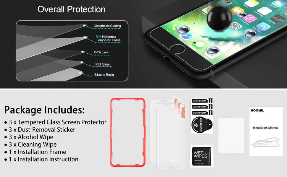iPhone 8 Screen Protector,Compatible with iPhone 7 Screen Protector-5