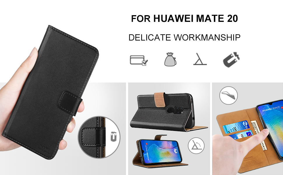 Huawei Mate 20 Case Cover Premium Leather Flip Wallet Phone Case Cover-2
