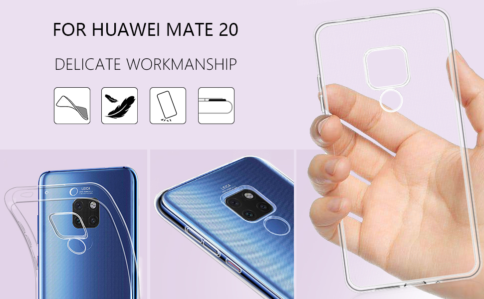 Huawei Mate 20 Case Soft TPU Crystal Slim Protective Clear Case-2