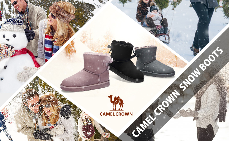 CAMEL CROWN Winter Snow Boots for Women