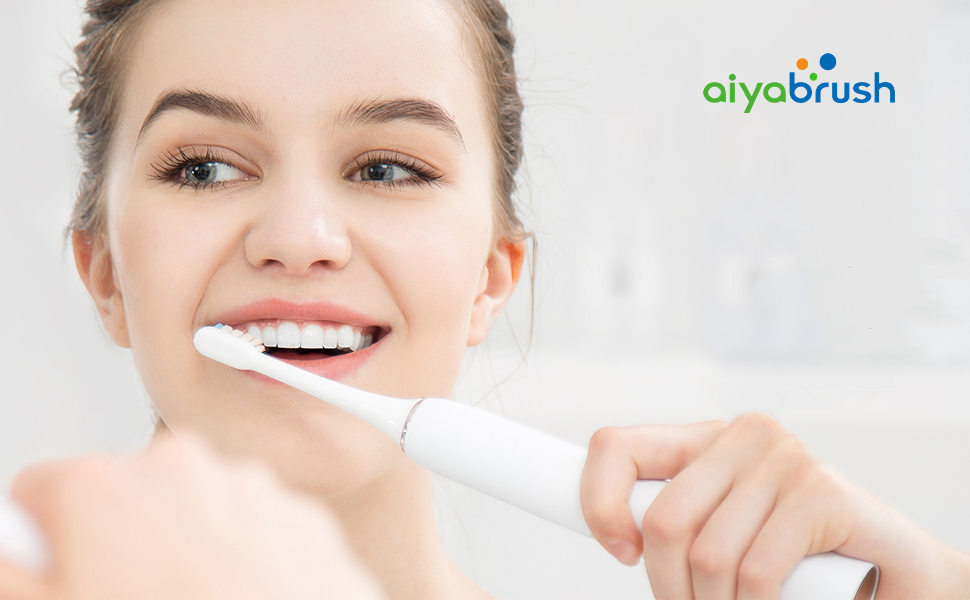 aiyabrush Sonic Electric Toothbrush, ZR501 31000 Senior echargeable Toothbrushes Lasting for 100 Days Use on One Charge 5 Brushing Modes 2 Replacement