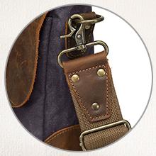 Sturdy, reinforced, adjustable shoulder straps.
