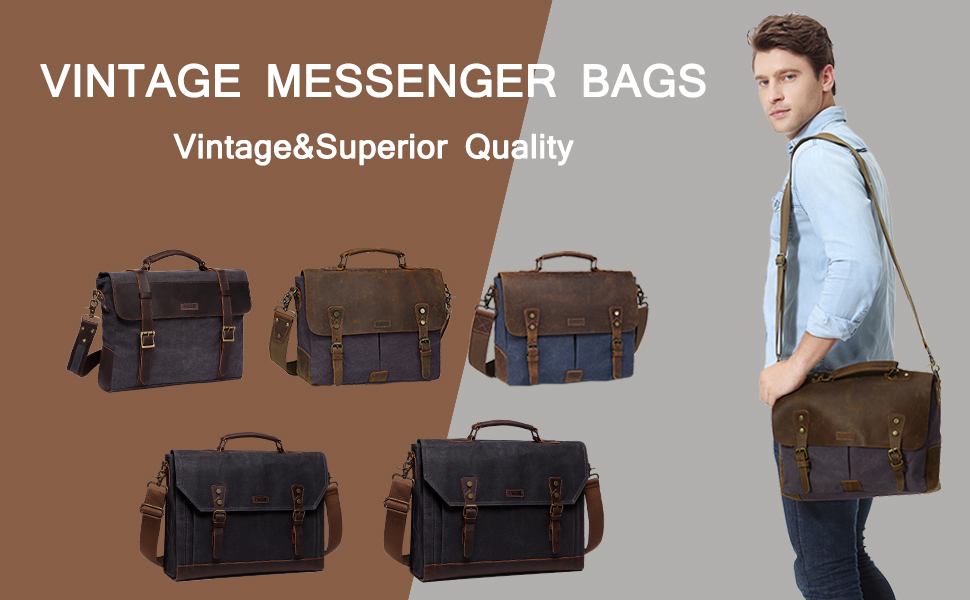 Made of superior quality canvas and genuine cowhide leather.