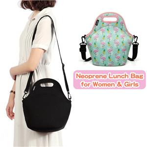 Neoprene lunch bag for women & girls
