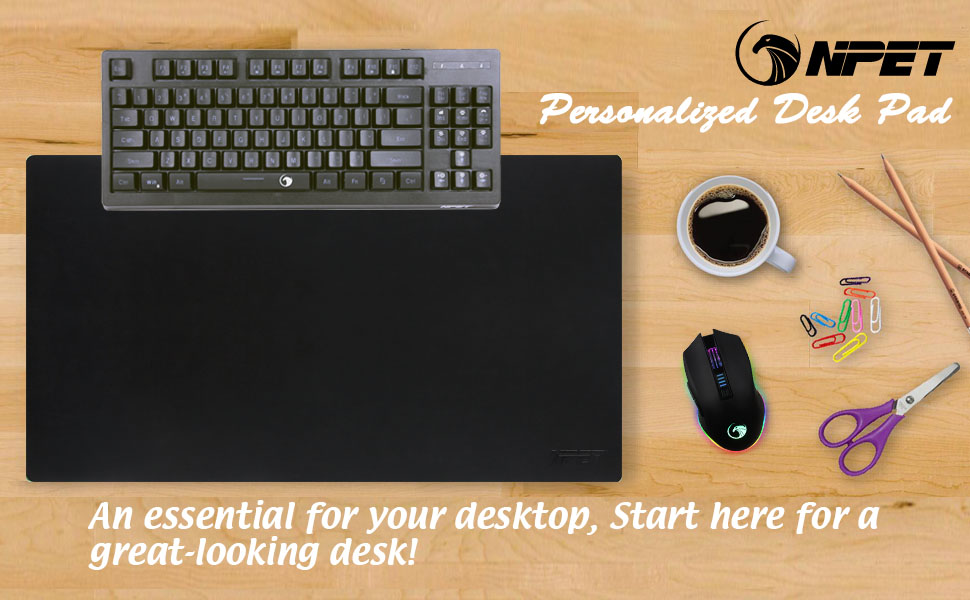 Npet P10 Desk Blotter Executive Desk Pad With Non Slip