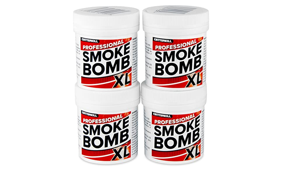 CritterKill XL 15g Smoke Bomb Fogger For Fleas, Bedbugs, Moths and all  insects   Professional Strength (4)