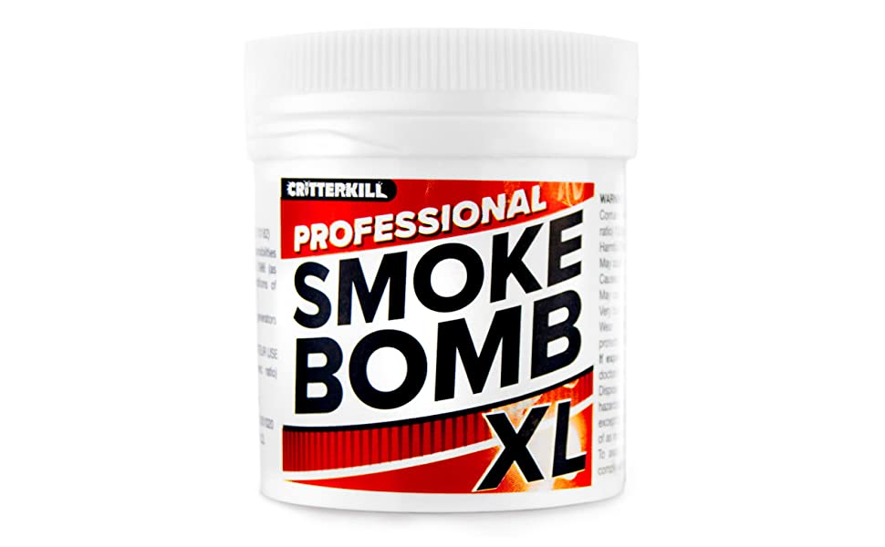 CritterKill XL 15g Smoke Bomb Fogger For Fleas, Bedbugs, Moths and all  insects | Professional Strength (4)