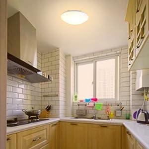 Myeussn 18w Led Round Ceiling Lights O 32cm 3000k 1650lm Flush Mount Warm White Lights For Kitchen Hallway Corridor Bedroom Nursery Home Office Lights
