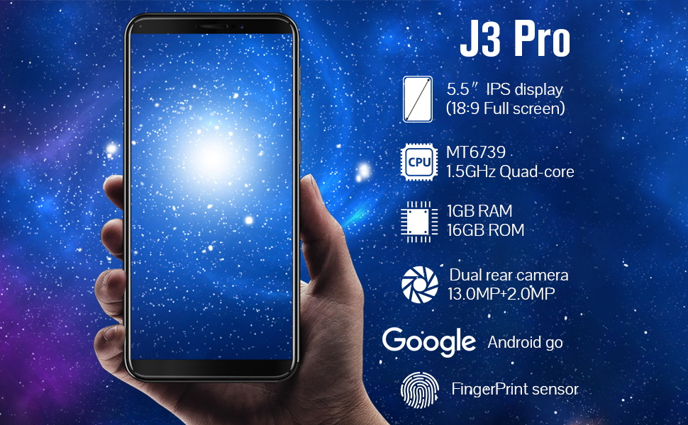 CUBOT J3 Pro (2018) Android Go 4G Smartphone, 18:9 FHD 5.5