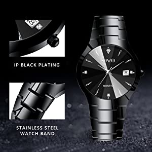 black stainless steel watches for men