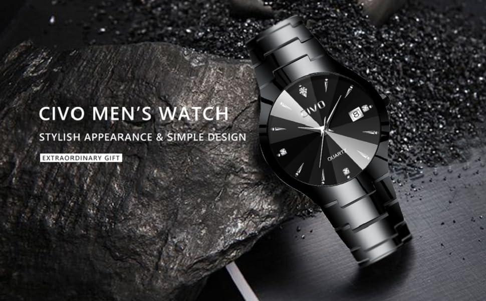 men watch mens black watches