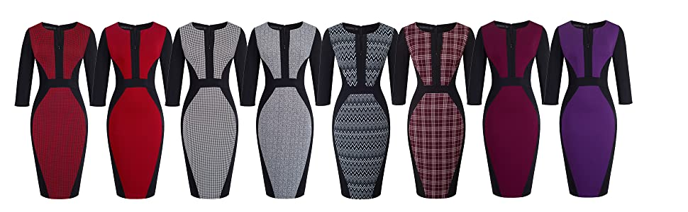 patchwork office dress