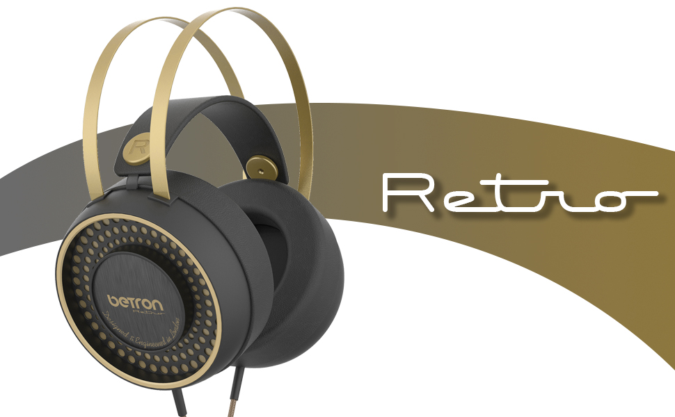 Betron retro headphones banner