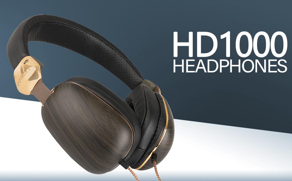 betron HD1000 noise isolating heavy bass headphones