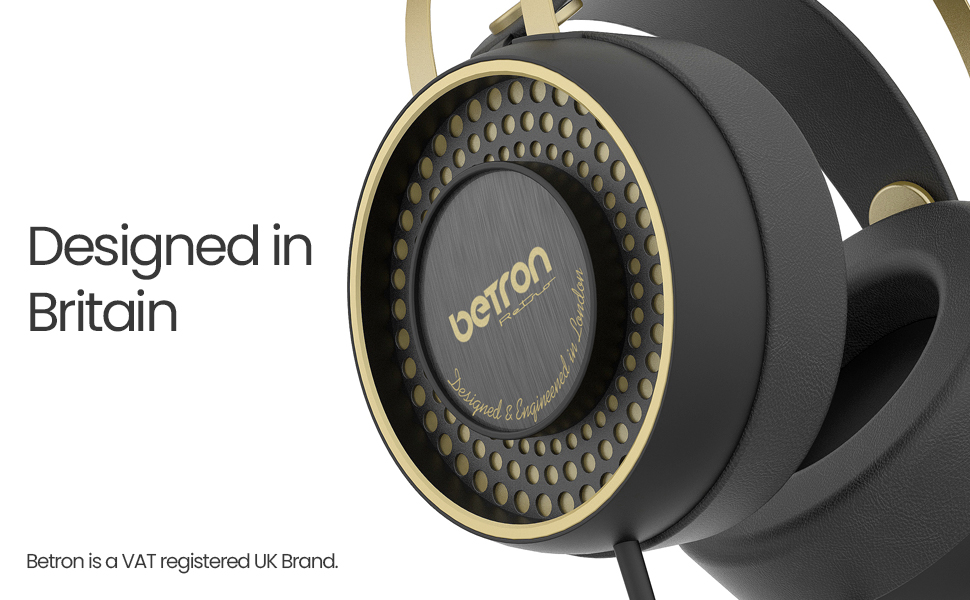 Betron retro headphones bottom banner