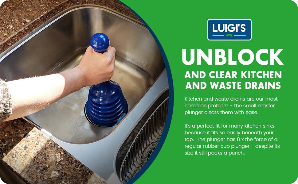 luigi 39 s small sink plunger kitchen and drain plunger. Black Bedroom Furniture Sets. Home Design Ideas