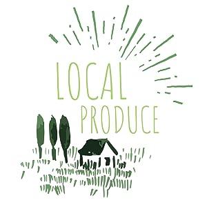 local produce, dog food, dog snacks