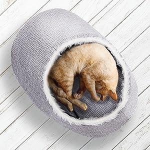 cat bed, cat, sleeping cat, nook, cat cave, pet bed