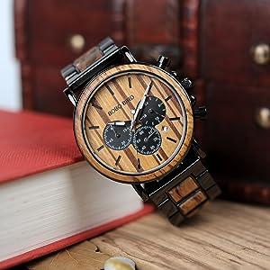 men wooden watch