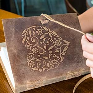 Leather Heart Journal with tree free paper