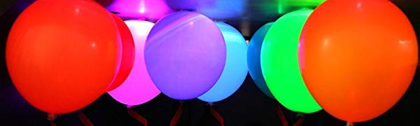 Wedding Concer Bar Club 15 Pieces White Birthday Pulchram Colorful LED Light Luminous Balloons Night Light Flashing Balloons light for Party Festival