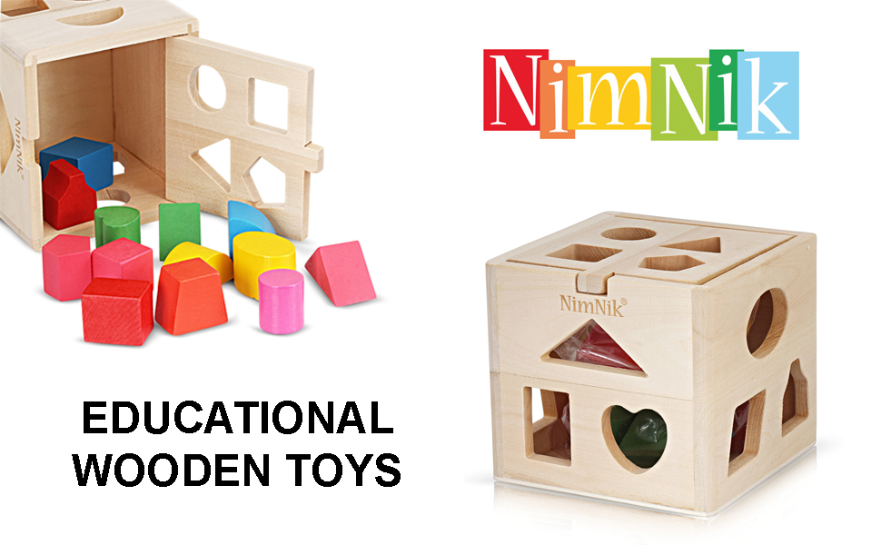 Classic Educational Toys : Nimnik wooden shape sorter cube toys classic early