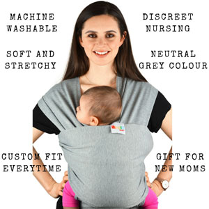 6def77dff3c Baby Carriers Sling Infant Wrap - Natural Cotton Multi Position Soft ...